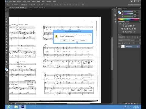 Basic Photoshop tutorial (music notes) - 2