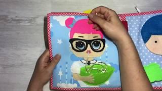 Masal' ın aktivite kitabı - quiet book- soft book - sensory book