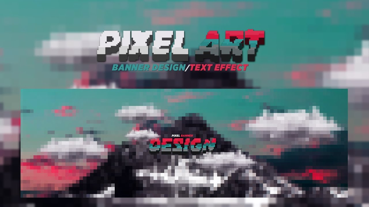 Photoshop Tutorial: Pixel Art Banner Design/Text Effect