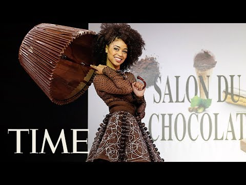 Chocolate Fashion Show 2017 Part 2: The Finest Chocolate Dresses On Display | TIME