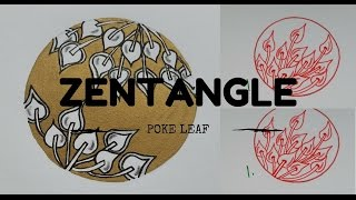 ZENTANGLE PATTERNS FOR BEGINNERS #2 | Poke Leaf
