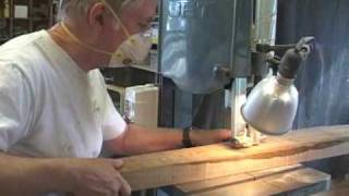 Making A Rocking Chair - Back Legs