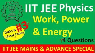 IIT JEE Trick and Tips For Work Power Energy Some Advance Questions for IIT JEE NEET Part - 3