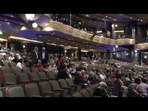 Cunard Queen Elizabeth. Theatre.