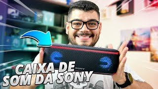A CAIXA DE SOM MAIS LEGAL QUE EU JA VI! Sony XB41 - Review