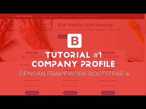 Membuat Template Company Profile Dengan BOOTSTRAP #01