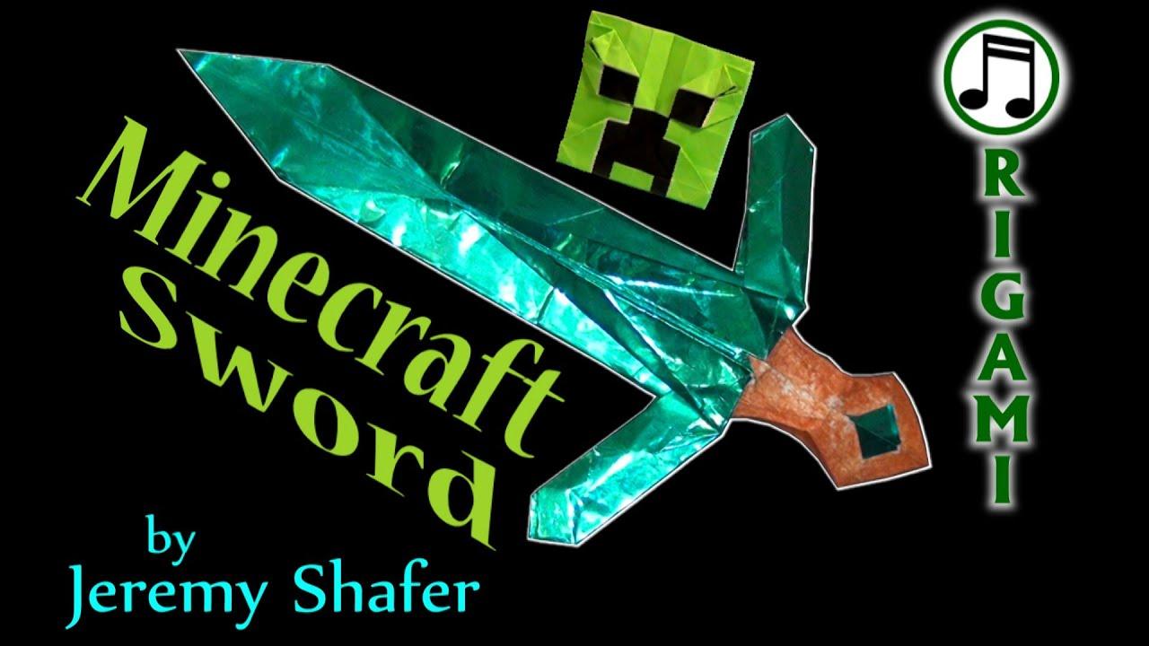Origami Diamond Sword By Jeremy Shafer Youtube