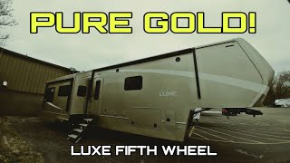 The LUXE GOLD Ultra Luxurious Fifth Wheel that's a little less expensive!
