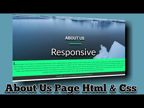 Simple About Us Page|Html|Css|Responsive