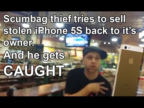 Thumbnail: Thief tries to sell stolen iPhone5S back to owner and gets caught
