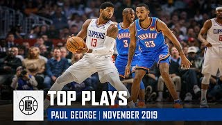 Paul George's Top Plays of November | LA Clippers