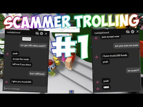 ROBLOX SCAMMER TROLLING #1