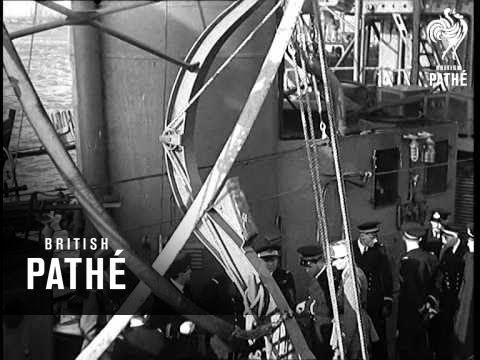 General De Gaulle Honours Free French Navy - Cuts / Out Takes (1941)
