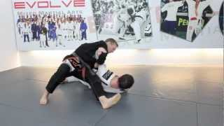 BJJ Side control Submission: Back step Americana armlock - BJJ technique (Dennis Asche)