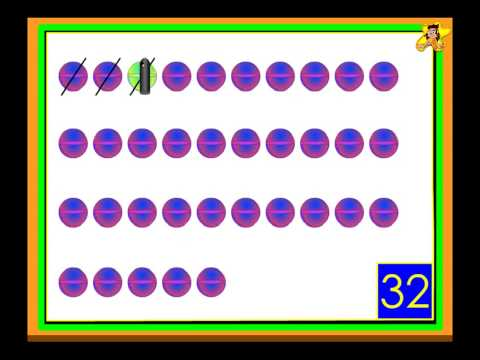 Counting For Kids -  up to 50 -  kindergarten math worksheet