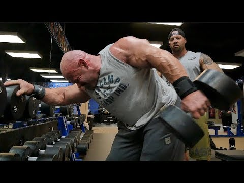Branch Warren and Kris Gethin Train Triceps at Mecca Gym
