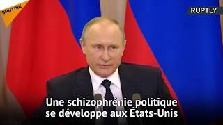 Poutine qualifie de schizophrénie le tollé autour des secrets révélés par Trump