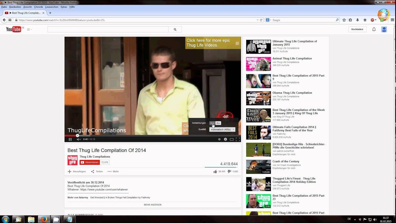 Youtube Anmerkungen Ausschalten