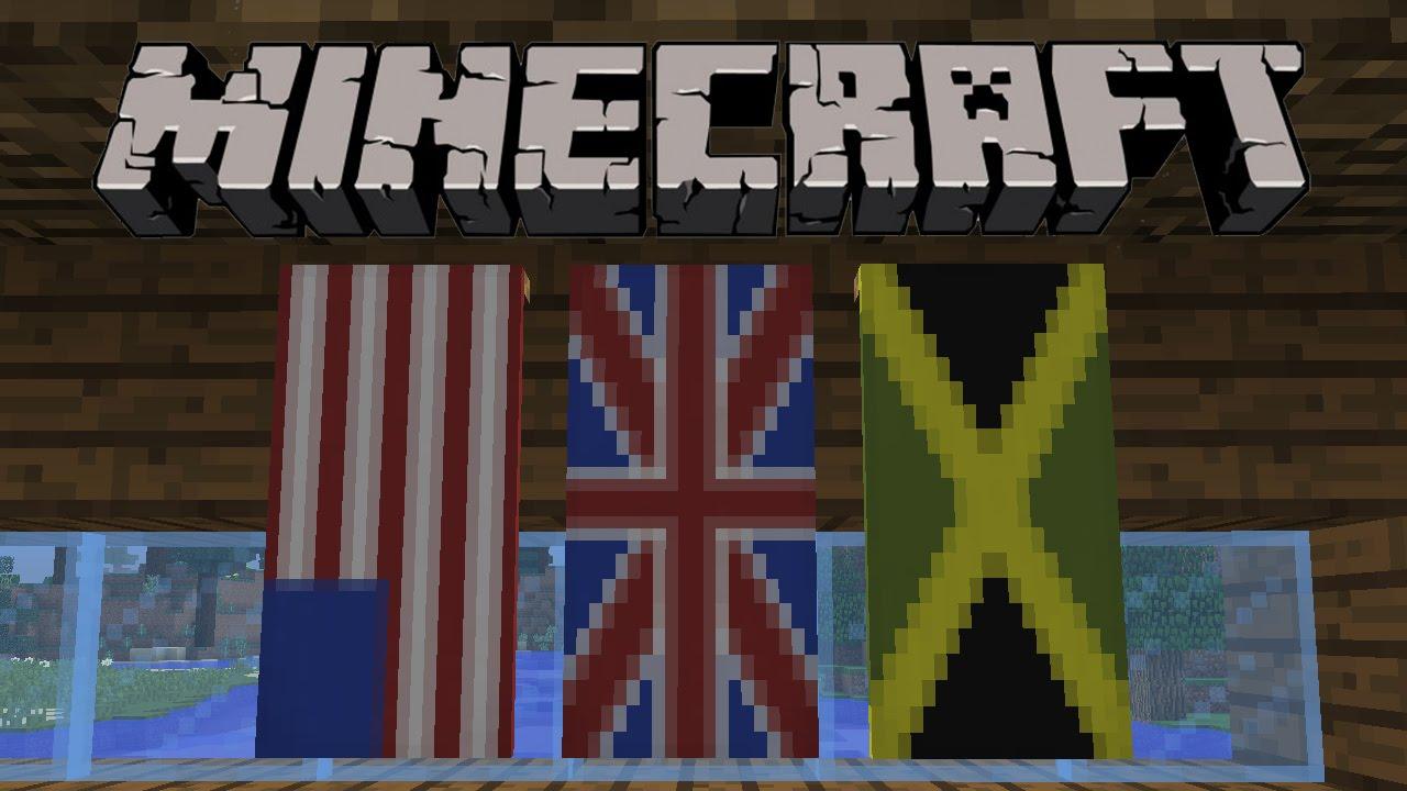 Майнкрафт как сделать великобританский флаг