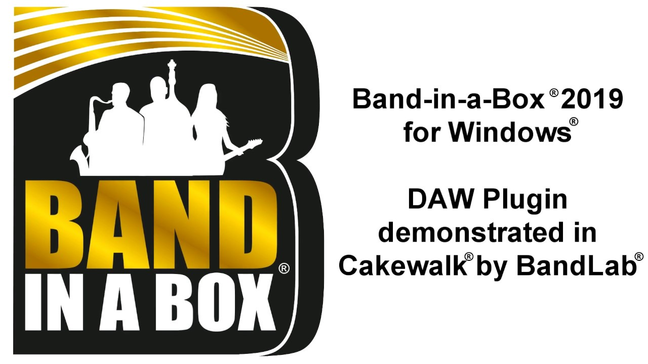 Band-in-a-Box® 2019 VST DAW Plugin for Windows®, demonstrated in Cakewalk®  by BandLab®
