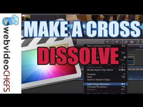 How to make a cross dissolve In Final Cut Pro X