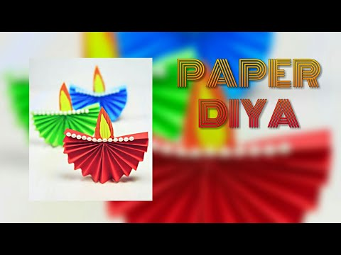 DIY Paper Diya • Diwali Decoration Idea • Diwali Craft • Diwali Special • Paper Craft • Diwali 2018