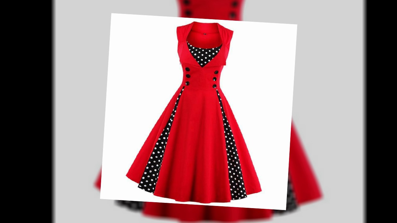 Women Robe Pin Up Dresses - YouTube