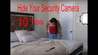 how to hide security cameras   top 10 tips hide security camera   hide security camera wires outside