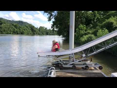 Slide into Kanawha River Charleston WV   Dex Rex play's 21