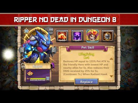 RIPPER NO DEAD IN DUNGEON 8 | TALENT : NIMBLE | USEFULL SUPER PET