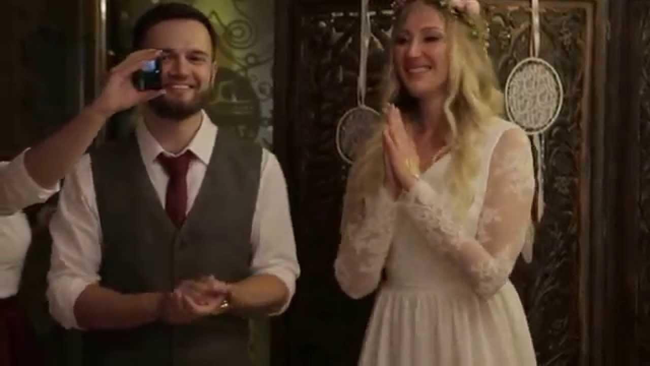 Веселое поздравление на свадьбу от сестер