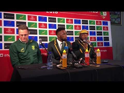 Springbok press conference, Part 1 (16/06/18)