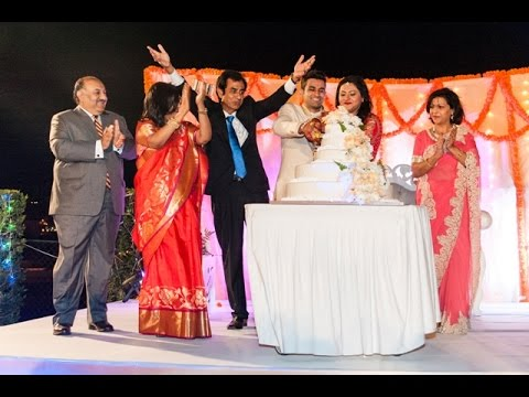Siddarth Srishti Wedding Reception on 1st Jan,2016 in Muscat, Oman..mp4