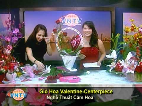 VNTV Flowers Arrangements - Giỏ Hoa Valentine - Centerpiece