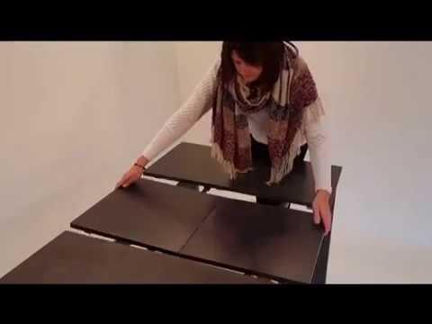 chez soi design table extensible c ramique ku 02 youtube. Black Bedroom Furniture Sets. Home Design Ideas