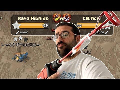 ¿SERA ESTA LA VICTORIA 300 DE RAYO HIBRIDO? Guerra con Invitados! | Clash of Clans