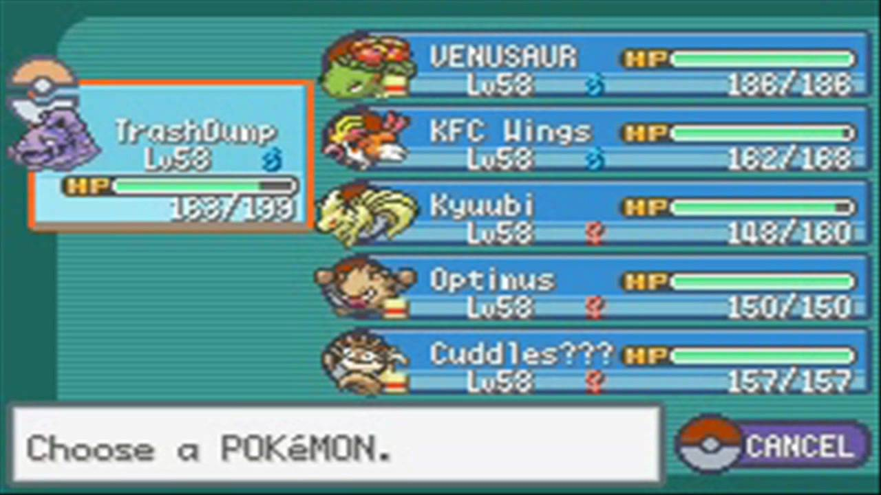 Pokemon Fire Red Best Team Against Elite Four