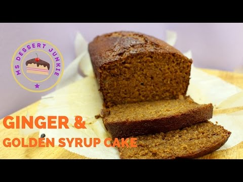 GINGER GOLDEN SYRUP CAKE RECIPE  | MsDessertJunkie
