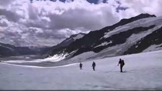 Wanderung über den Aletschgletscher vom Jungfraujoch zur Konkordiahütte 2010