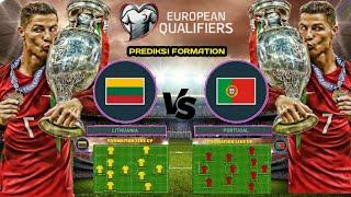 LITHUANIA VS PORTUGAL jadwal & prediksi formation european Qualifiers 2019