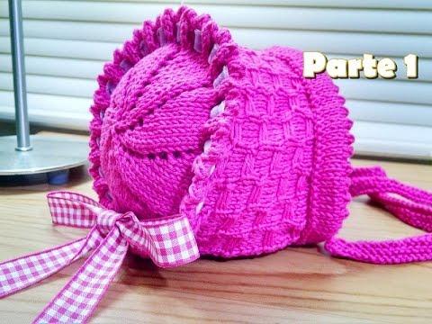 542353ffd704a Tricô  Gorro Camponesa para bebê- (gorro de tricô bebê) - YouTube