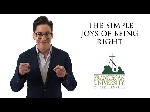 The Simple Joys of Being Right: Michael Knowles at Franciscan University