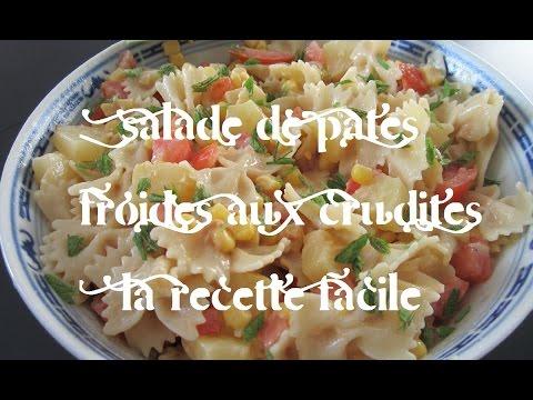 salade-de-pâtes-froides-aux-crudités-la-recette-facile