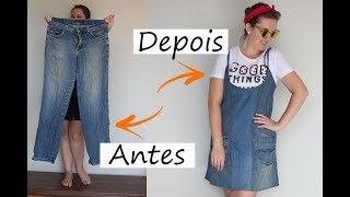 Como Transformar uma Calça em Vestido – Reutilização de Calça Jeans