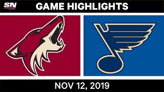 NHL Highlights   Coyotes vs. Blues – Nov. 12, 2019