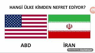 Hangi ülke kimden nefret ediyor