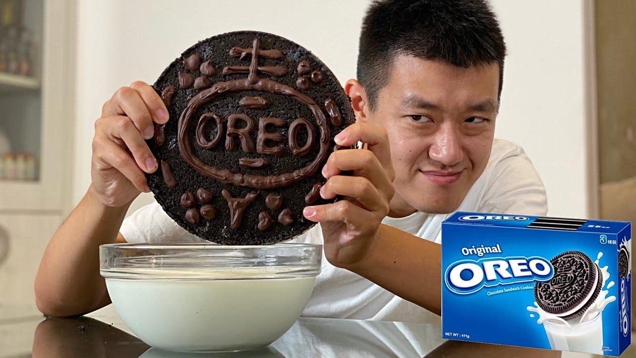 製作超大OREO餅乾!Making big Oreo cookies!
