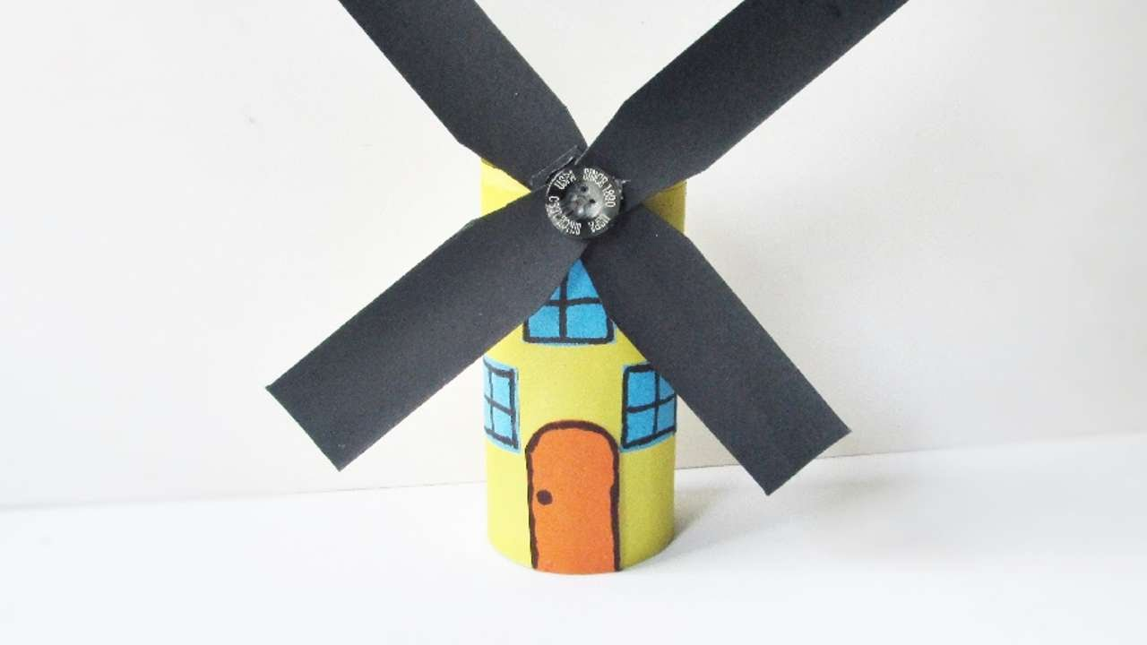 How To Make An Amazing Paper Roll Windmill Diy Crafts