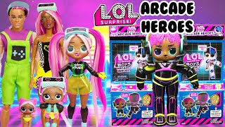 LOL Surprise ARCADE HEROES! Unboxing At The VRQT Family Arcade