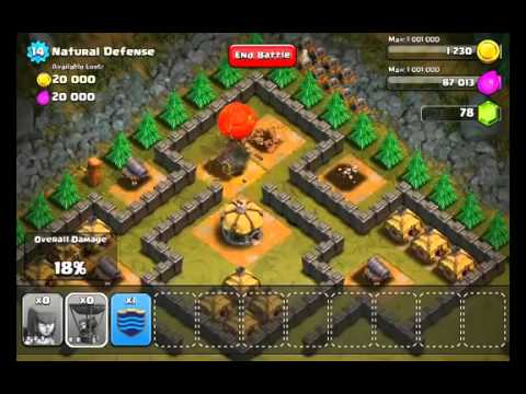 Clash of Clans Level#30   Natural Defense